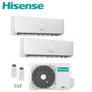 Multi Split 2X1 Hisense 3AMW62U4RFA +  DJ25VE0BG + DJ50XA0B A++