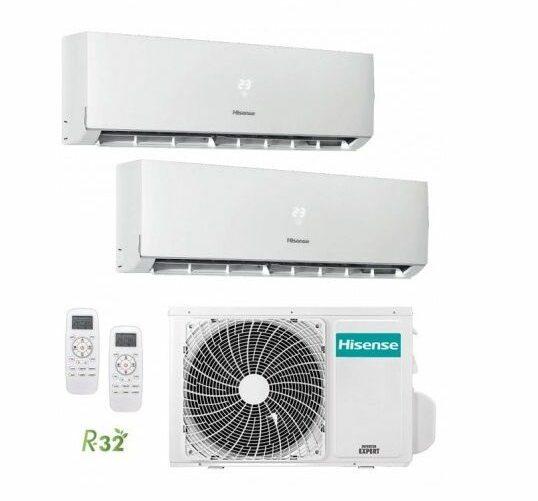 Multi Split 2X1 Hisense 2AMW50U4RXA +  DJ25VE0BG + DJ35VE0BG A++