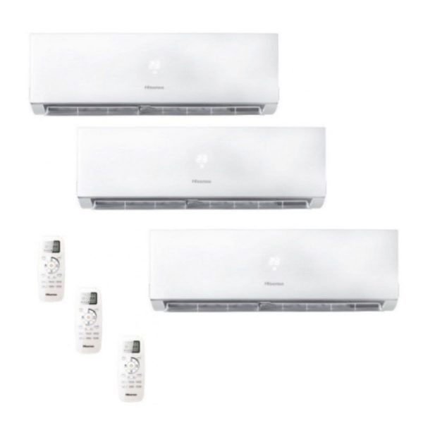 Multi Split 3X1 Hisense AST09UW4SVEDJ10 (X2)+AST12UW4SVEDJ10 + AMW3-24U4S-AD1