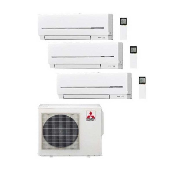 Multi Split 3X1 Mitsubishi MSZ-SF25VE (X2)+MSZ-SF35VE + MXZ-3D68VA