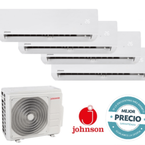 Multi Split 4X1 Johnson J4FM80 +  4 unids interiores JT25NT  R-32